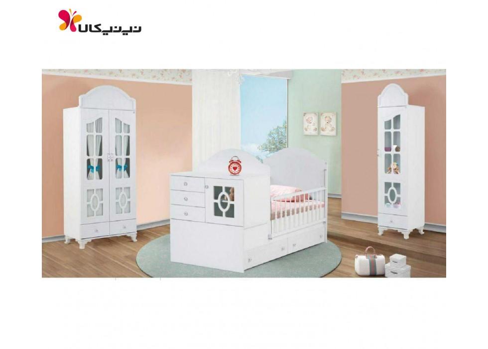 سرویس خواب، تخت و کمد نوزاد نوجوان مدل توکا