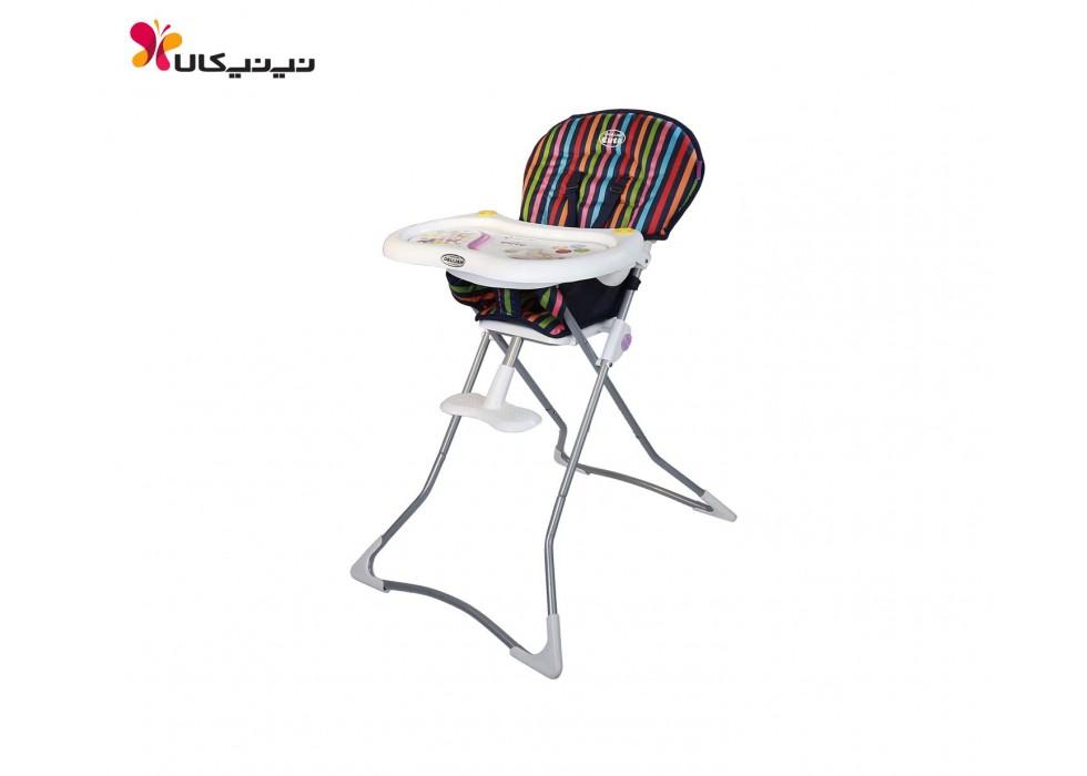 صندلی غذاخوری برند دلیجان-Delijan مدل Cute طرح استریپ