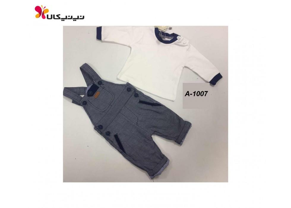 شلوار پیش بندی و تی شرت پسرانه برث بی بی-Birth Baby مدل A-1007