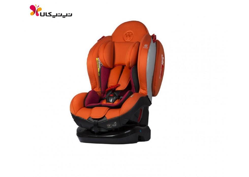 صندلی ماشین کودک برند ولدن- welldon نارنجی