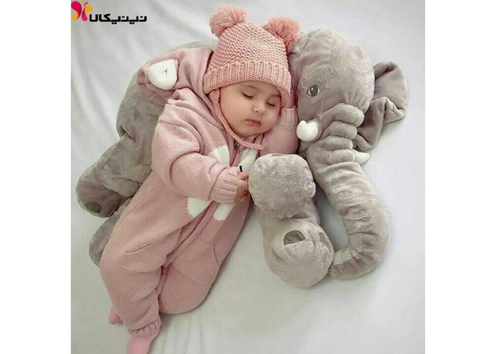 فیل بالشتی بازی و خواب نوزاد سایز کوچک