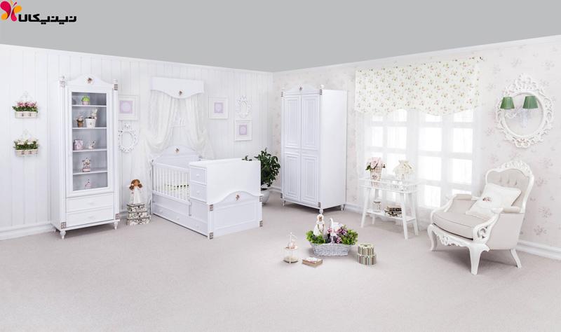 تخت خواب نوزاد و نوجوان آپادانا مدل رز