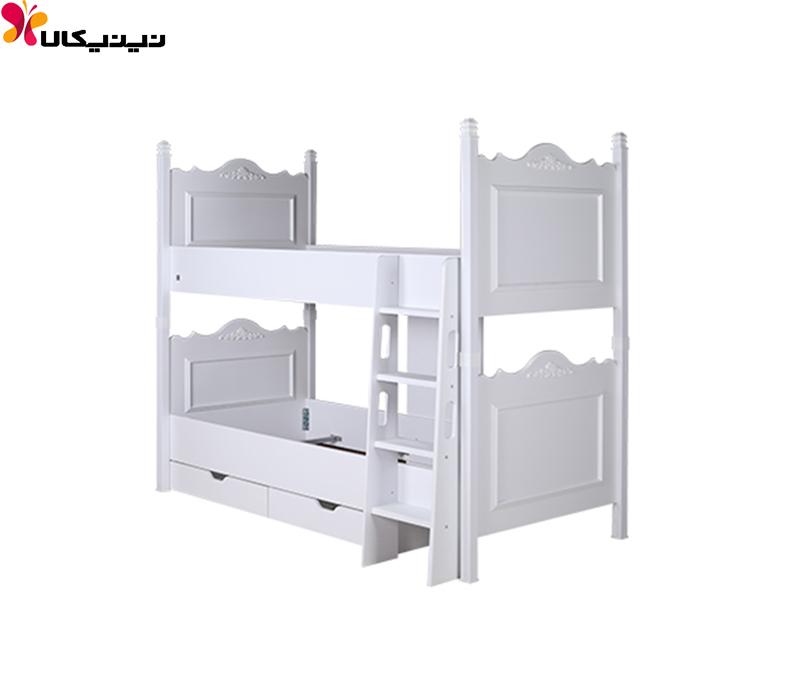تخت خواب دو طبقه آپادانا مدل کویین