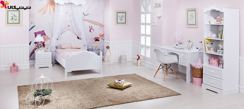 تخت خواب نوجوان و جوان آپادانا مدل پالی