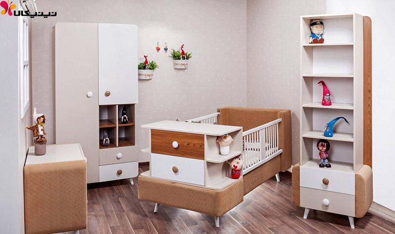 سرویس خواب نوزاد و نوجوان آپادانا مدل برفی