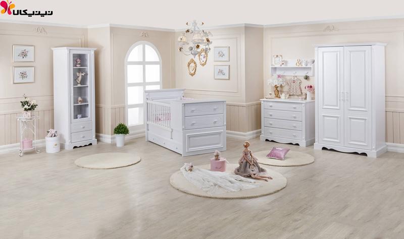 تخت خواب نوزاد و نوجوان آپادانا مدل ریتا