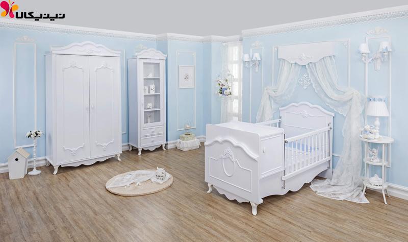 تخت خواب نوزاد و نوجوان آپادانا مدل گلوریا