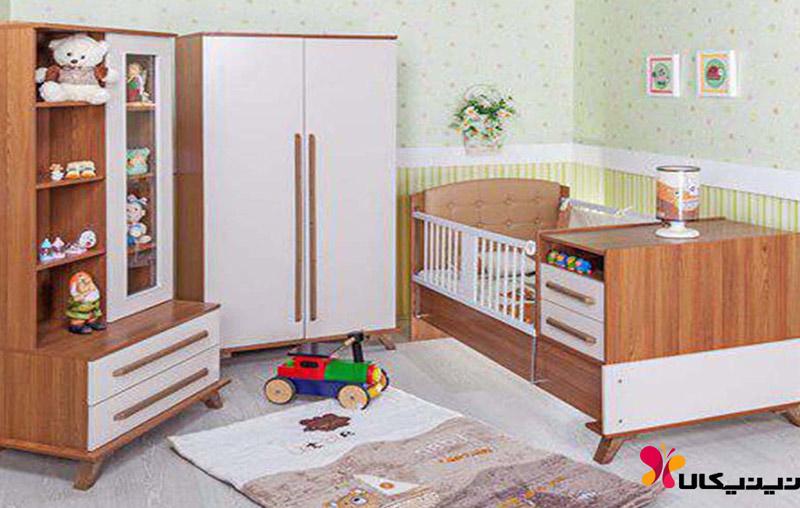کمد ویترین دار نوزاد و نوجوان آپادانا مدل فلورانس