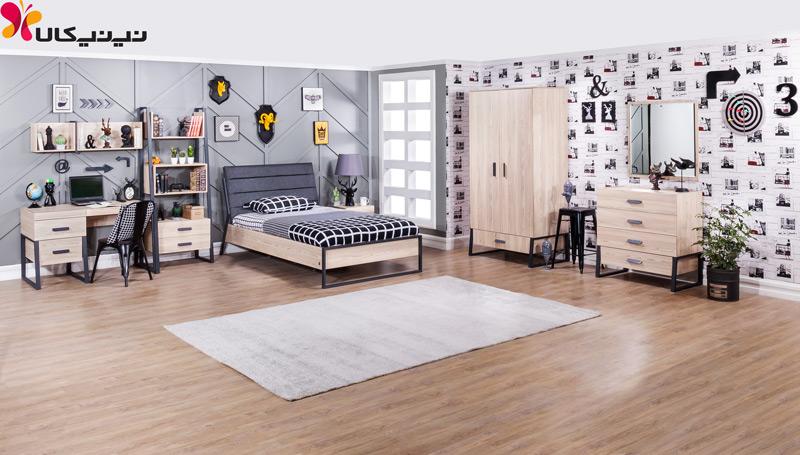 تخت خواب یک نفره آپادانا مدل رامونا